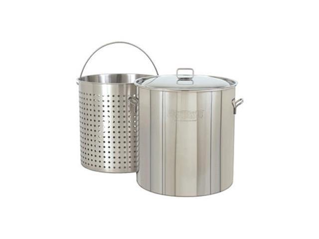 Bayou Classic 82 Quart Stainless Steel Stockpot with Steam-Boil Basket