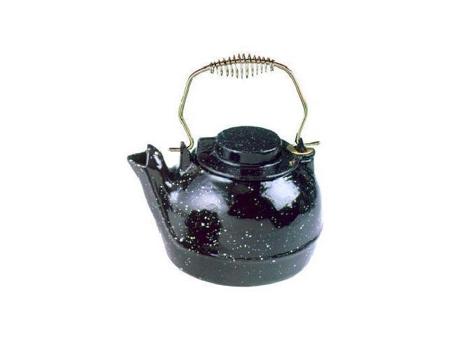 2 1/2 Qt. Cast Iron Humidifying Kettle - Black Enamel