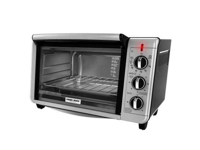 Black & Decker TO3230SBD 6-Slice Convection Toaster Oven, Black