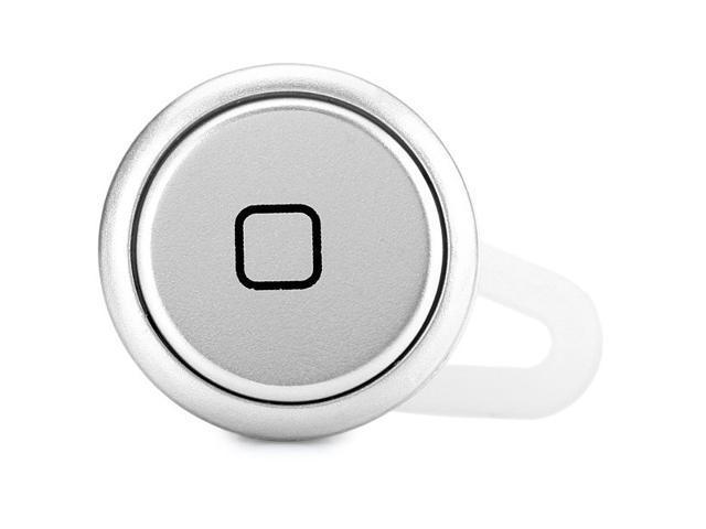 YE-106 Silver Super Mini Wireless Bluetooth Earphone Ear-hook In-ear Headset with Mic for Smartphone Tablet PC