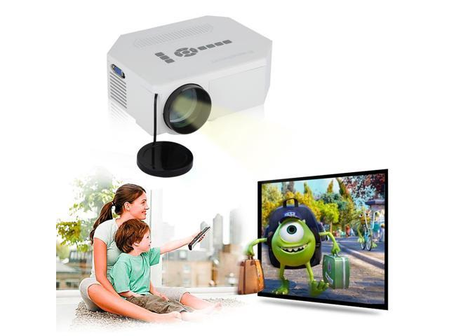 Excelvan UC30 150 lumens 480*320 Multimedia Portable Mini LED/LCD Home Entertainment Theater Projector built-in Speakers support 1080P with ...