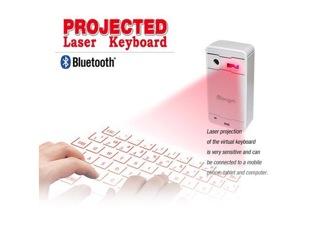 Atongm FWLK1 Magic Newest Wireless Mini Bluetooth Virtual Projection Laser Keyboard for iphone4/4S/5/5S/6 Samsung S4 S5 Note4 Sony Xperia SP Z3 ...