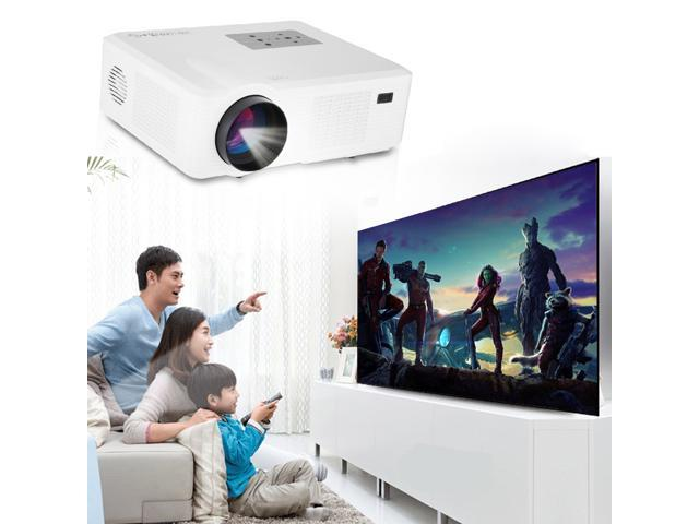 2400 Lumens 1500:1 Excelvan CL740 LED 800*480 HD Projector for Home Cinema Theater PC DVD ATV Computer Laptop Blu-ray DVD, built with ...