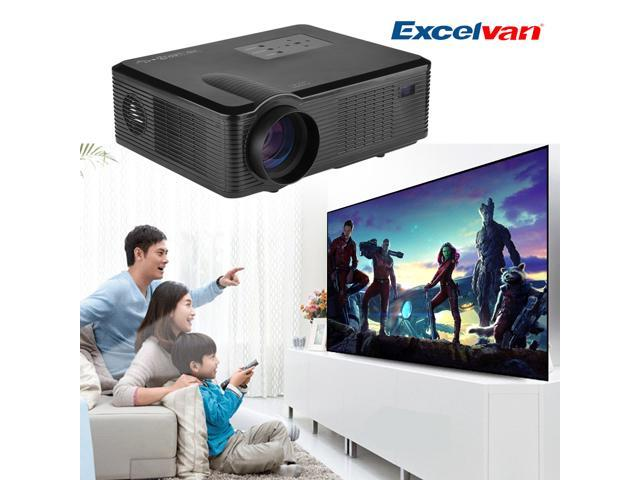 Excelvan 2400 Lumens 800x480 1500:1 HD LED/LCD Projector for Home Cinema Theater PC DVD ATV Computer Laptop Blu-ray DVD 50000hours lamp life time