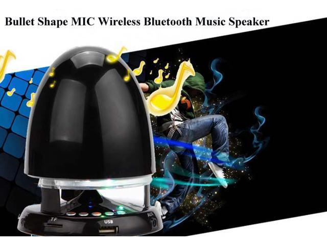Bullet Shape MIC Wireless Bluetooth Music Speaker Built-in FM Radio with 7-Color Breathing Light for iPhone 6 / 6 Plus 5S 5C 5 4S 4 ...