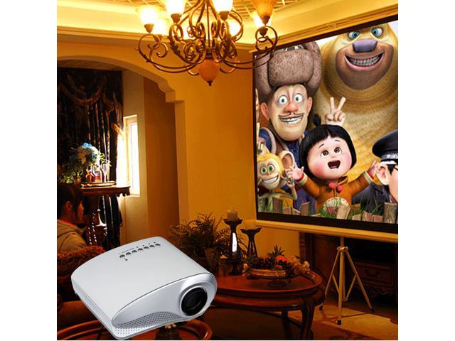 Excelvan RD-802 LED/LCD Portable Mini Multimedia Projector 60 Lumens Home Theater 480*320 built-in Speaker for iPhone iPad speaker game console ...