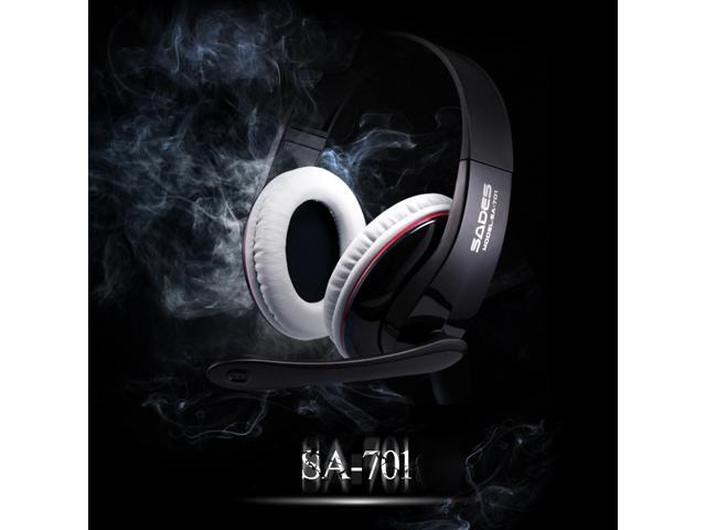 SADES SA-701 3.5mm Stereo Headphone Gaming Headset with Microphone 40mm Driver for Computer Gamer
