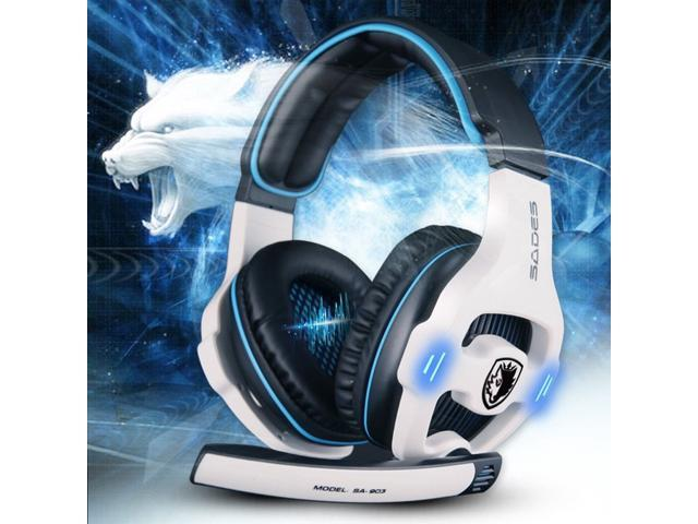 Sades SA - 903 7.1 Surround Sound USB Gaming Headset headphone with Mic Volume Control for gamers seeking amazing game sound