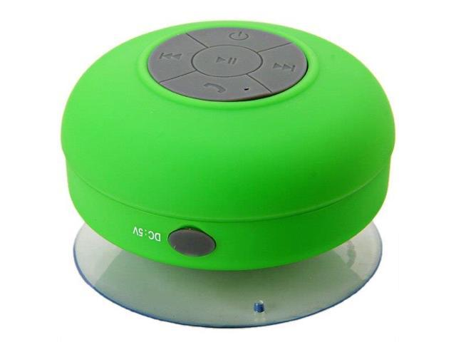 BTS-06 Waterproof Bluetooth Speaker with USB Charger Cable Green