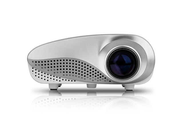60 Lumens 1000:1 Excelvan RD-802 HOT Home Theater LED LCD Projector 480*320 built-in speaker with HDMI/USB/SD/VGA/AV/AUDIO OUT white