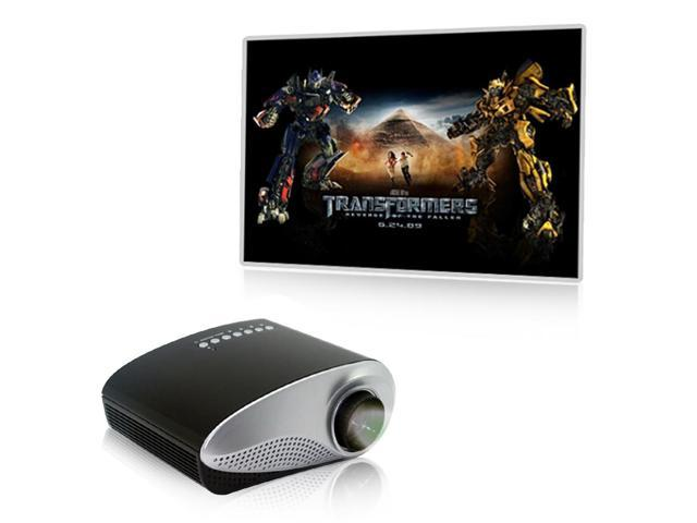 Excelvan RD-802 60 Lumens 1000:1 HOT Home Theater LED LCD Projector 480*320 built-in speaker with HDMI/USB/SD/VGA/AV/AUDIO OUT