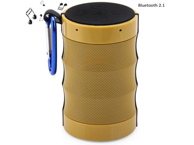 CX01 MIC Outdoor Wireless Bluetooth 2.1 Speaker with Emergency Flashlight Built-in Lithium Battery Support TF Card AUX Audio Input Hands-free Calls