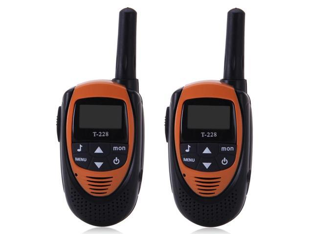 FLOUREON 22 Channel Twin Walkie Talkies UHF462-467MHz 2-Way Radio 3KM Interphone 0range/Black