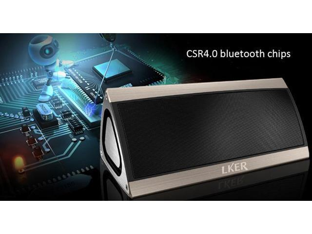 LKER King Wireless Bluetooth V4.0 Speaker HiFi Sound Box with Mic Handfree Volume Control