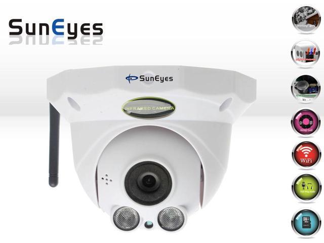 SunEyes SP-P1802SW Wireless Full HD Dome IP Camera 1080P 2.0MP with P2P TF/Micro SD Card Slot Array IR 50M Low Lux ONVIF