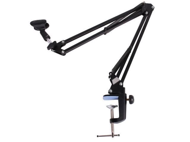Adjustable Desktop Microphone MIC Suspension Boom Scissor Arm Stand Holder Black