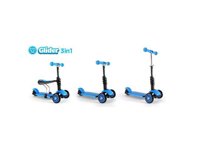 Y Glider 3-in-1 Scooter- Blue