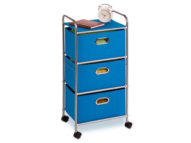 Honey-Can-Do 3-Drawer Rolling Cart - Blue