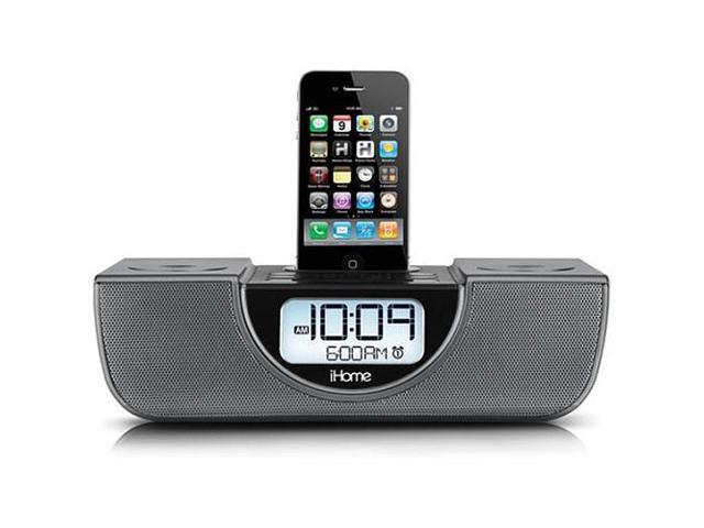 iHome iP42 Clock Radio for iPod/iPhone, Gunmetal Gray iP42GVC