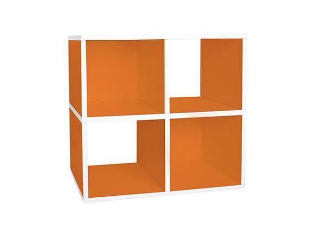 Way Basics Eco Friendly Quad Cube Storage - Orange