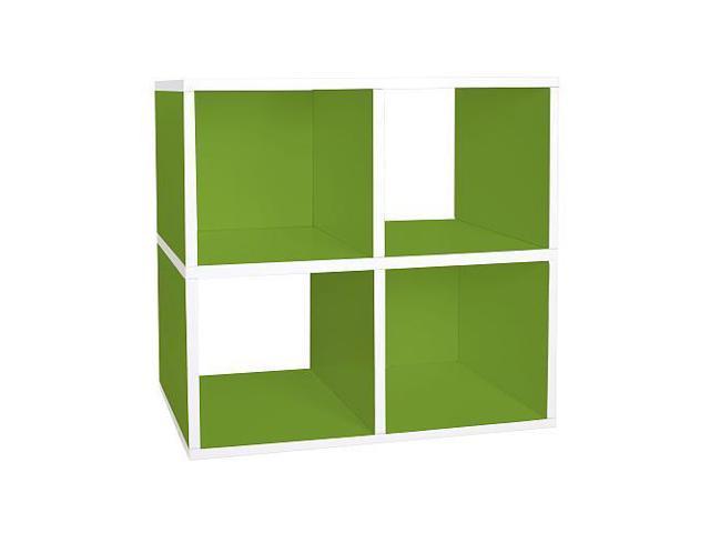 Way Basics Eco Friendly Quad Cube Storage - Green