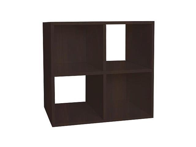 Way Basics Eco Friendly Quad Cube Storage - Espresso
