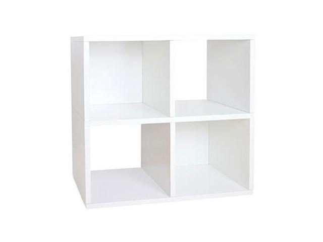 Way Basics Eco Friendly Quad Cube Storage - White