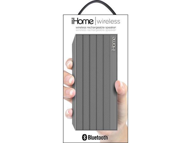 iHome iBN27SX NFC Bluetooth Mini Speaker in Rubberized Finish Silver