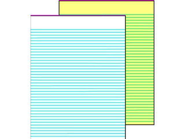 School Smart Gummed Ruled Pads - 12 Pads of 50 Sheets