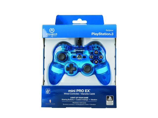 Power A Mini Pro Ex Wired Controller for Sony PS3 - Blue