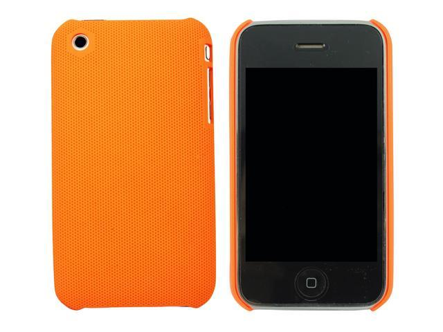 Kit Me Out US Hard Clip-on Case + Screen Protector with MicroFibre Cleaning Cloth for Apple iPhone 3GS - Orange Smooth Touch Textured