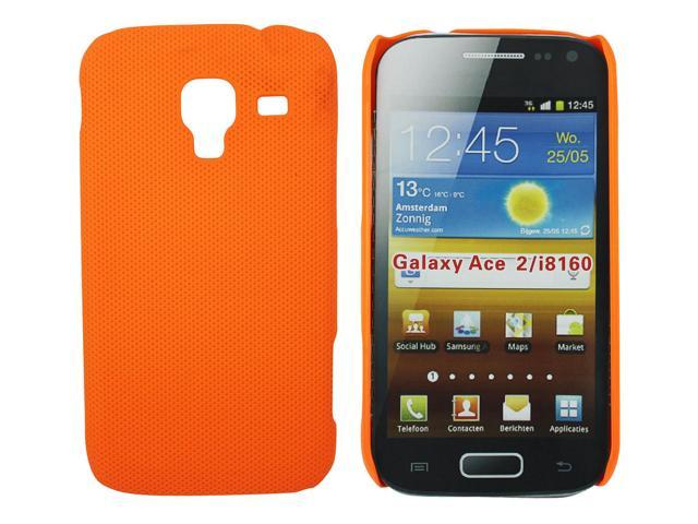 Kit Me Out US Hard Clip-on Case + Screen Protector with MicroFibre Cleaning Cloth for Samsung Galaxy Ace 2 i8160 - Orange Smooth Touch Textured ...