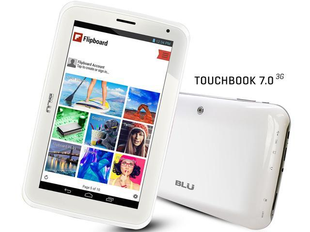 BLU Touch Book 7.0 3G P200L White Unlocked Android v4.4 7