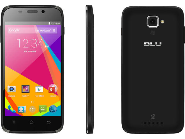 BLU Studio 5.0 HD LTE Y534q Black Android Unlocked Cell Phone