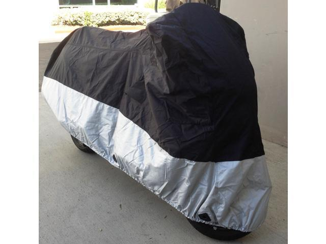 Heavy Duty Motorcycle cover (L) with cable & lock. Fits up to 84