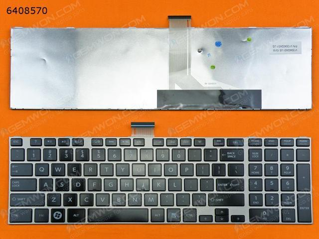 US Keyboard for TOSHIBA L850 GRAY FRAME GLOSSY