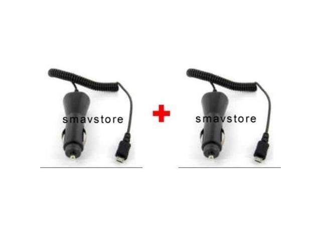 2 PACK - Car Chargers for Samsung SGH-T959V Galaxy S, Samsung SGH-T679 Exhibit II 4G, Samsung Galaxy S Fascinate