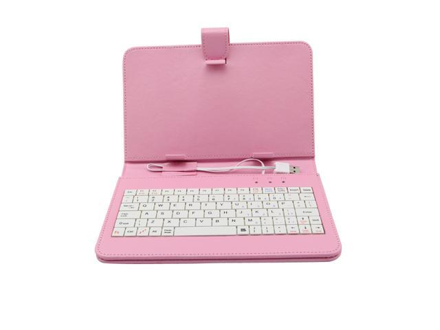 Black USB Keyboard Cover Leather Case Bag For 7'' Inch Tablet PC MID US Shipping