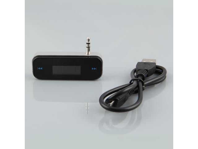 3.5mm Wireless FM Transmitter for iPhone 4 4S Black