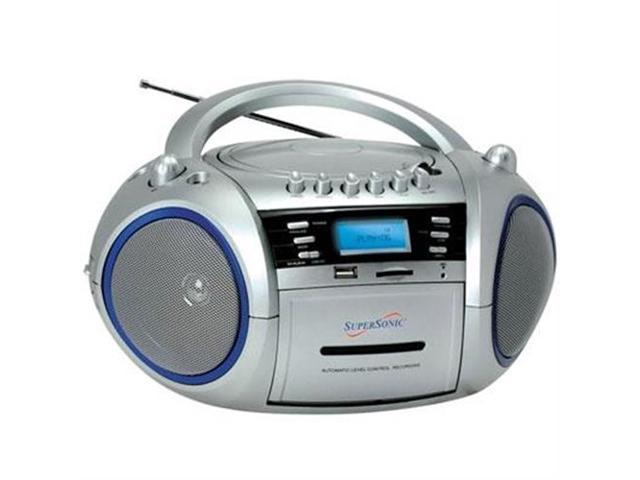 Supersonic MP3CD Cassette Recorder Silver
