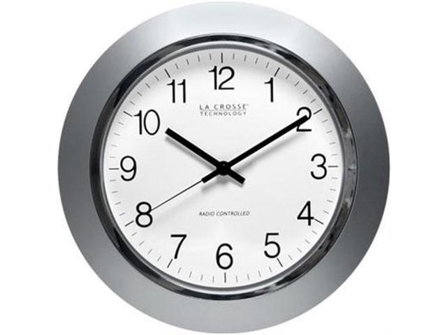 La Crosse Technologies 14in Atomic Analog Clock Slvr