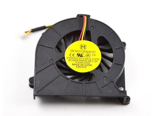 Elecs Laptop CPU Cooling Fan for Toshiba C600 C600D C645 C655 C650 3 Pin Connector