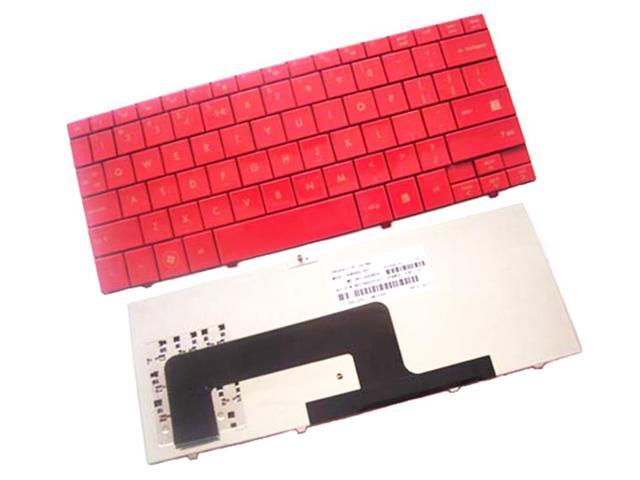 WIFEB Laptop Keyboard for HP MINI 1000 1100 700 730 Series Laptop Red