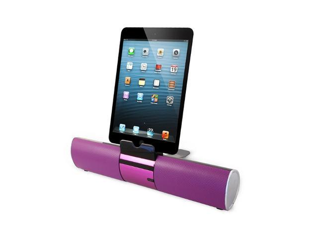 Portable Bluetooth Speaker with Bluetooth Designed to dock iPhone and iPad for charging station while playing music (PURPLE)