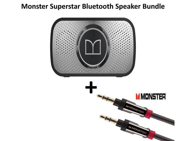 Monster Power Superstar High Definition Bluetooth Speaker (Black/Grey) + Monster AI 800 Mini Cable