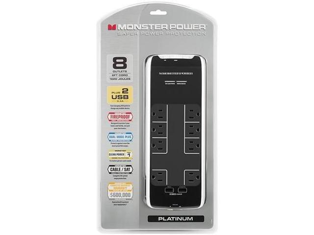 Monster - Power Platinum 800 HT 8-Outlet Surge Protector