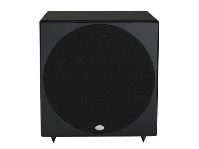 NHT B-12d 500-Watt Powered Subwoofer with DSP (Piano-Gloss Black, Single)