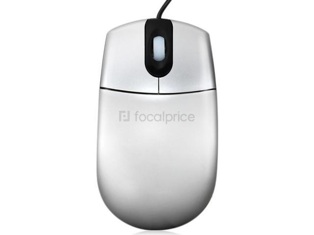 800DPI Optical Wired Mouse with Built-in Scale (Silver)