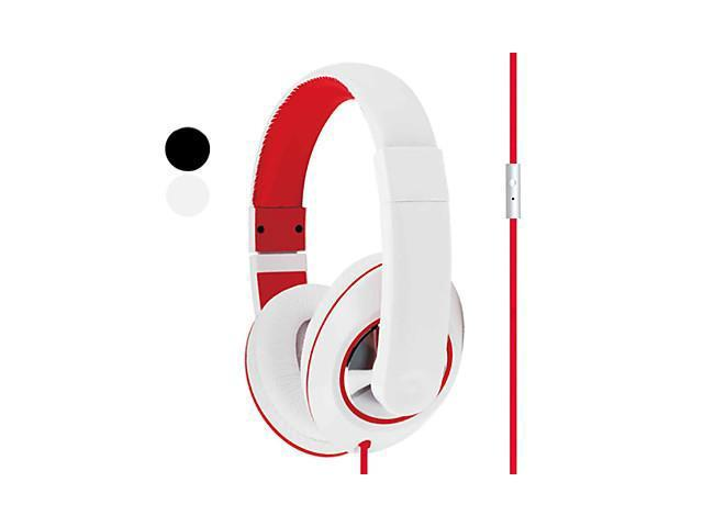 Kanen Stereo Headphone Headset with Volume Control and Mic (Assorted Colors)