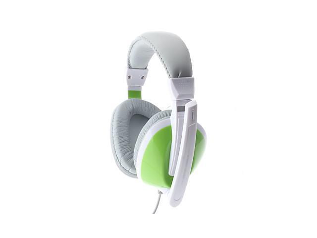 LPS-2003 Comfortable Design Green Wired Stereo Music Headphone with Mic